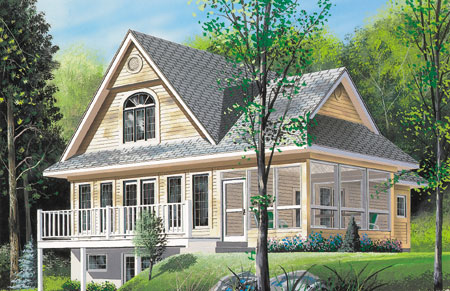 sloping lot vacation home plan - 2104dr | architectural designs