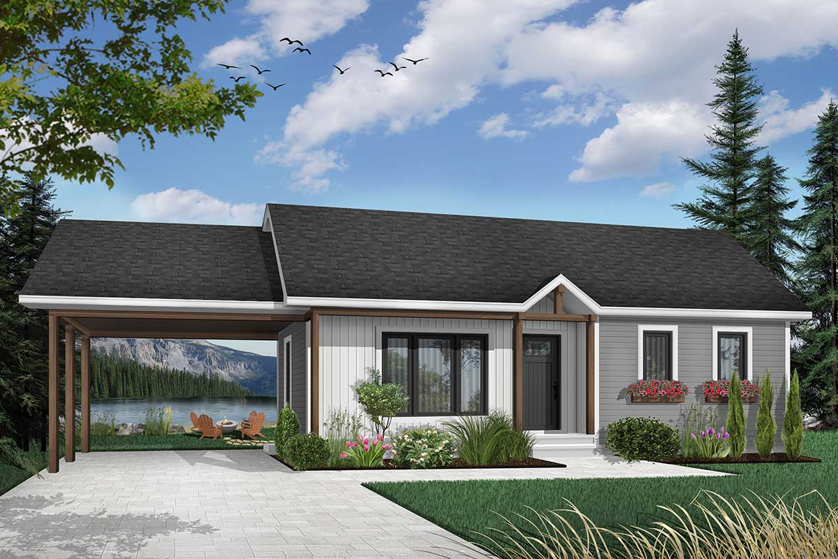 two bedroom ranch house plans 2 bedroom ranch with carport 21040dr architectural designs house plans 3193