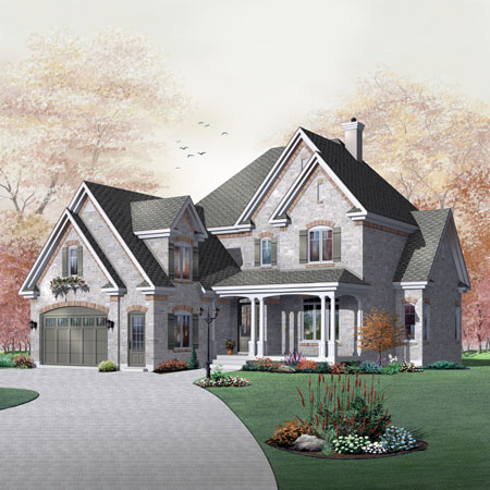 Charming front elevation 21119dr architectural designs for Charming house plans