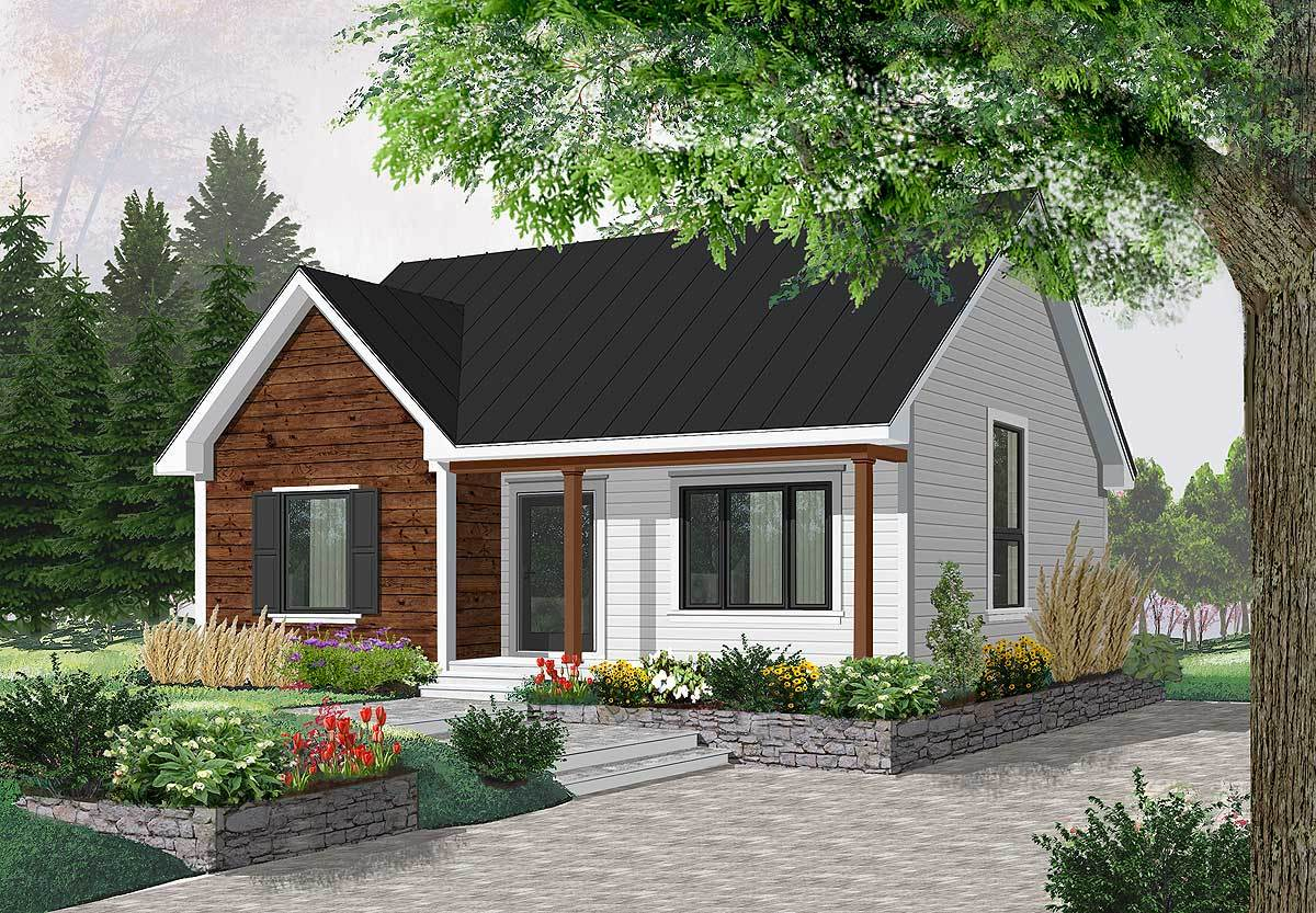 Compact country bungalow 2112dr architectural designs for Country bungalow house plans