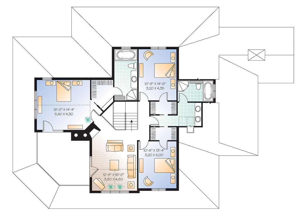 Two Family Rooms - 21123DR floor plan - 2nd Floor