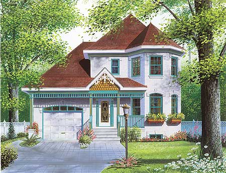 Bay Windows And Victorian Detailing   21145DR | Architectural Designs    House Plans