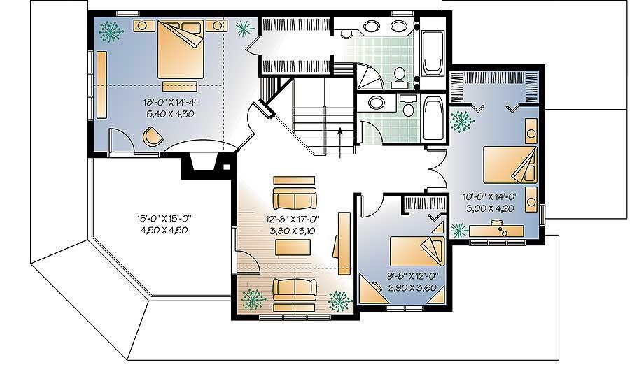 Wonderful Wrap-Around Porch - 2118DR floor plan - 2nd Floor
