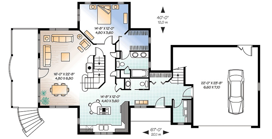 Architectural designs for House plans with guest suite