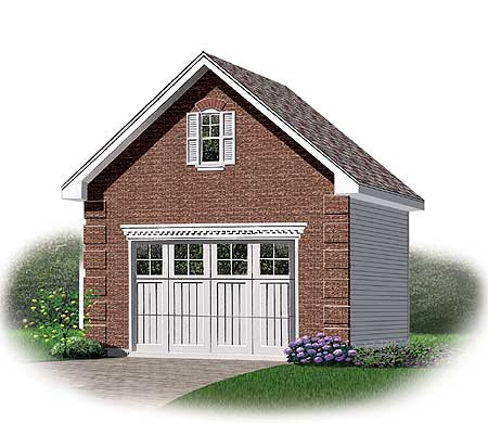 Detached garage with storage space above 21189dr bonus for Room over garage plans