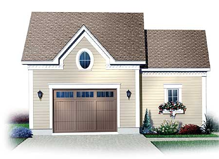 Detached garage with storage space above 21197dr cad for Canadian garage plans