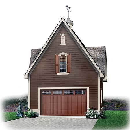 Detached garage with storage space above 21198dr for Large garage plans with living space