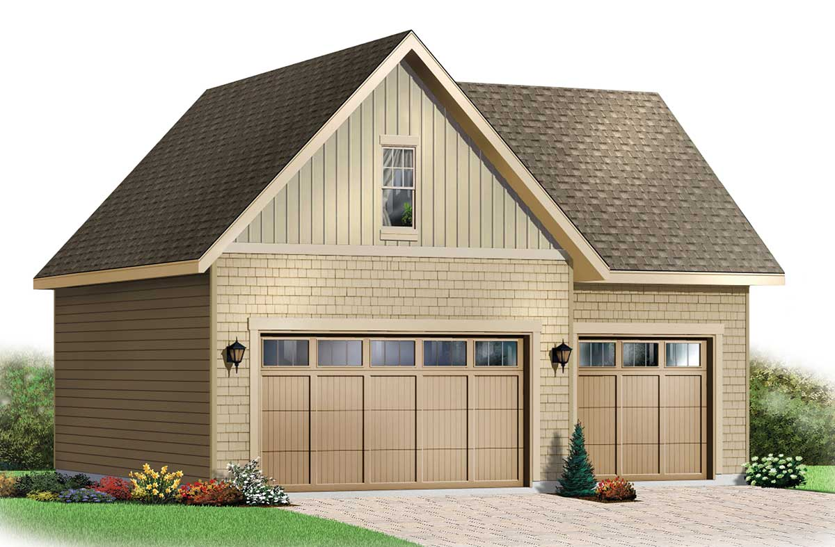 Garage with storage free materials list 21202dr for Garage plans with storage