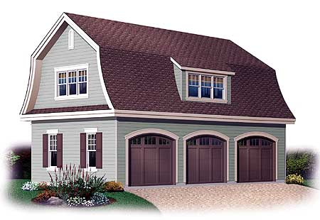 3 Car Garage With Storage Bonus 21203dr Bonus Room