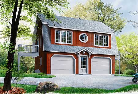 Compact Carriage House Plan   DR   nd Floor Master Suite    Plan DR
