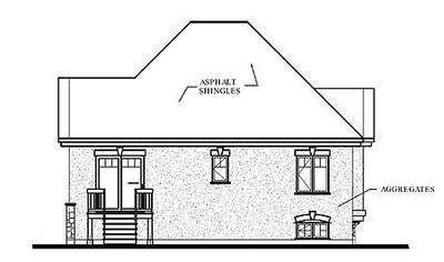 Two bedrooms with angled entry 21215dr architectural for Angled entry house plans