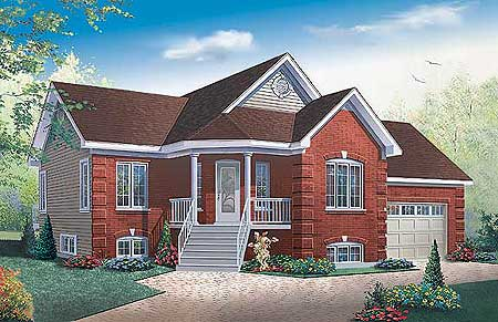 Two bedrooms with angled entry 21223dr architectural for Angled entry house plans