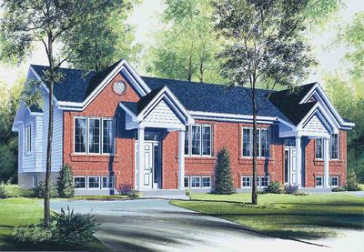 flexible two family house plan - 21244dr | architectural designs