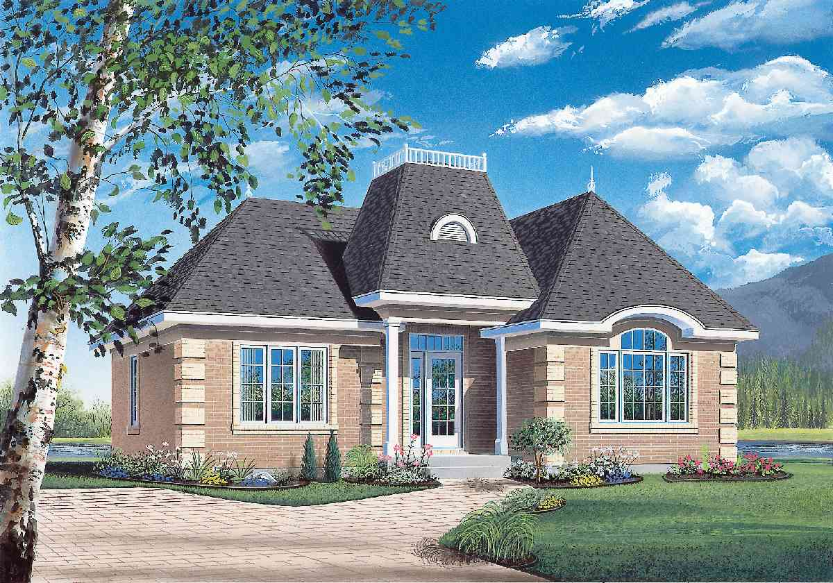 Tidy 2 bedroom starter house plan 21254dr for Starter house plans