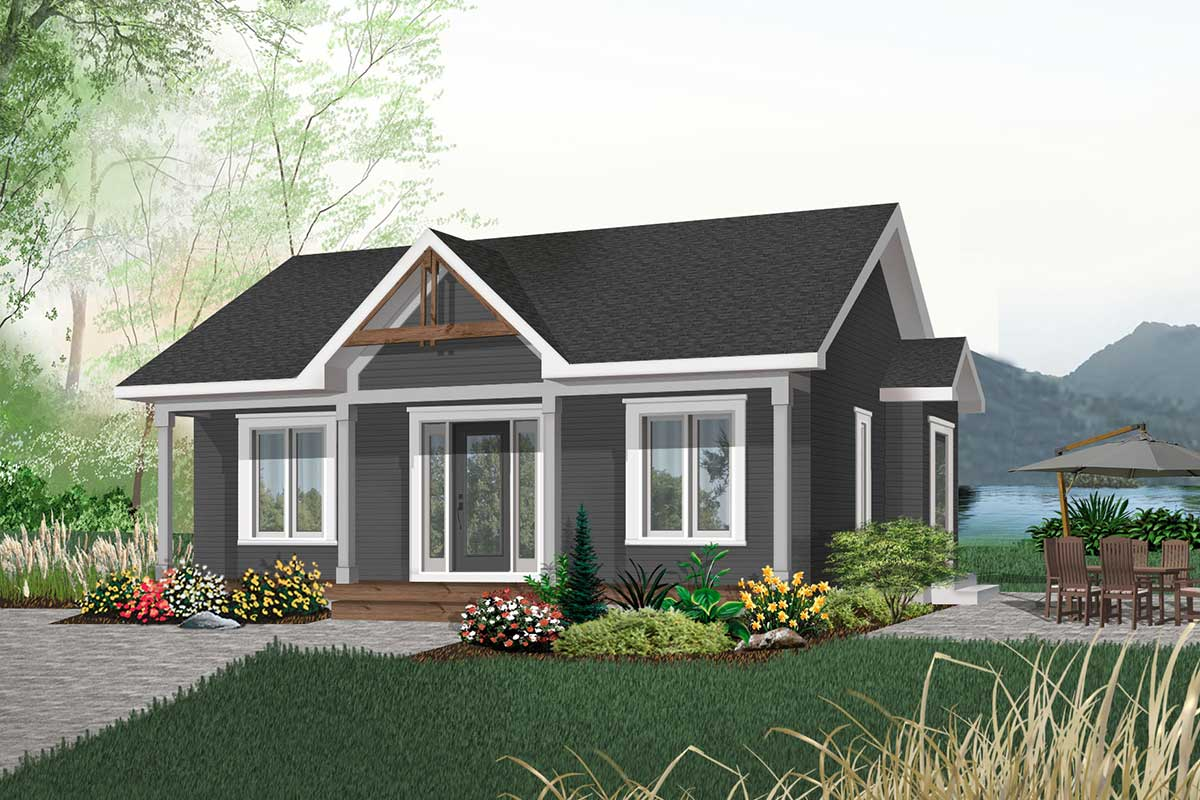 2 Bedroom Cottage House Plan - 21255DR   Architectural ...