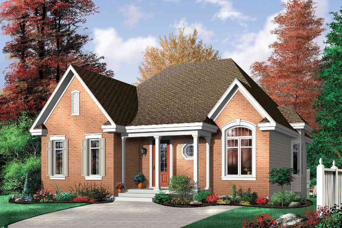Economical three bedroom brick house plan 21270dr architectural designs house plans - Brick houses three beautiful economical projects ...