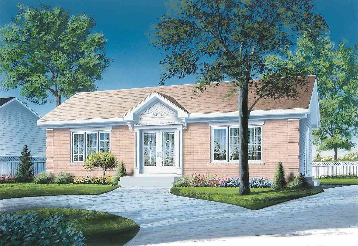 Simple 2 Bedroom House Plan 21271dr 1st Floor Master