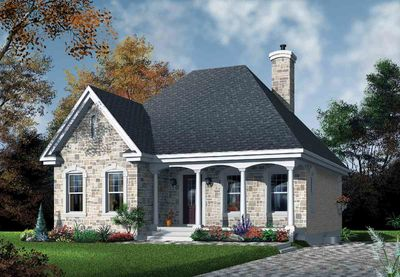 Stone Cottage with Options - 21279DR thumb - 01