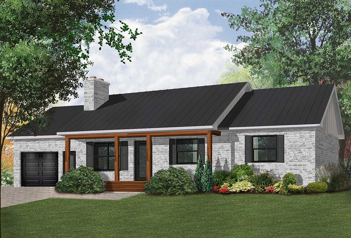 Classic ranch with efficient layout 2129dr 1st floor for Classic ranch house plans