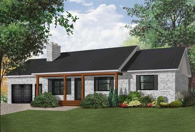 Classic ranch with efficient layout 2129dr for Classic ranch home plans