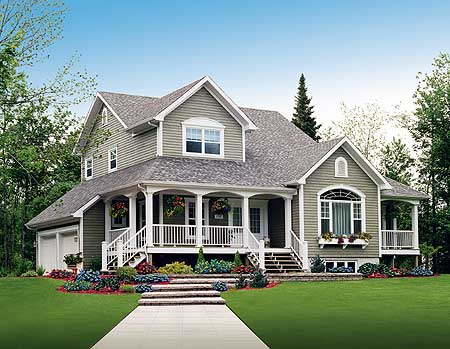 Wrap around porch 2167dr country traditional for Canadian country house plans