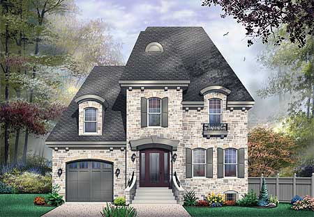 Roomy Hous Plan   Mansard Roof   DR   CAD Available    Plan DR