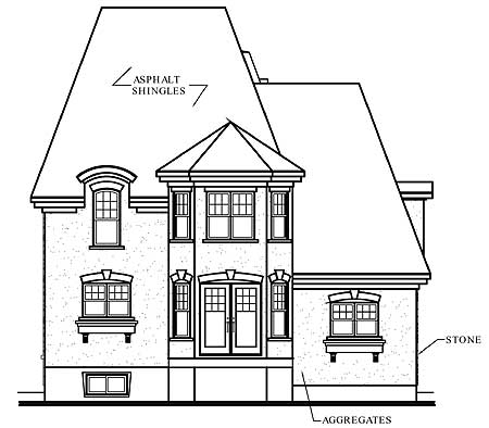 Roomy Hous Plan With Mansard Roof 21456dr Cad