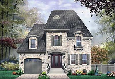 Captivating Roomy Hous Plan With Mansard Roof   21456DR Thumb   01