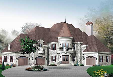 Outstanding House Plans Castle Style Contemporary - Image design ...