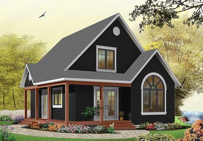 Country Cottage with Wrap-Around Porch - 21492DR thumb - 03