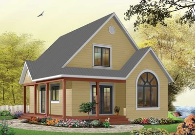 Country Cottage with Wrap-Around Porch - 21492DR thumb - 02
