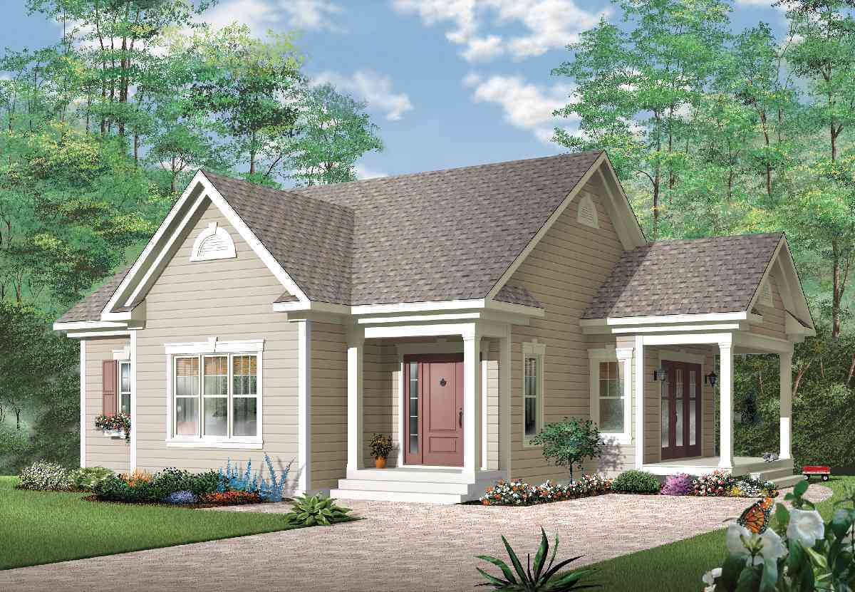 Affordable One Bedroom House Plan - 21497DR ...