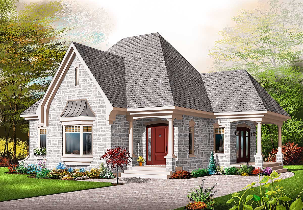 Affordable one bedroom house plan 21502dr for Affordable house design