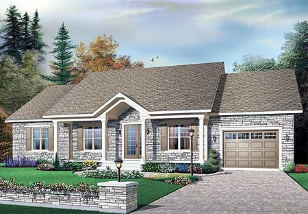 Classic ranch with alternate versions 21528dr for Classic ranch house plans