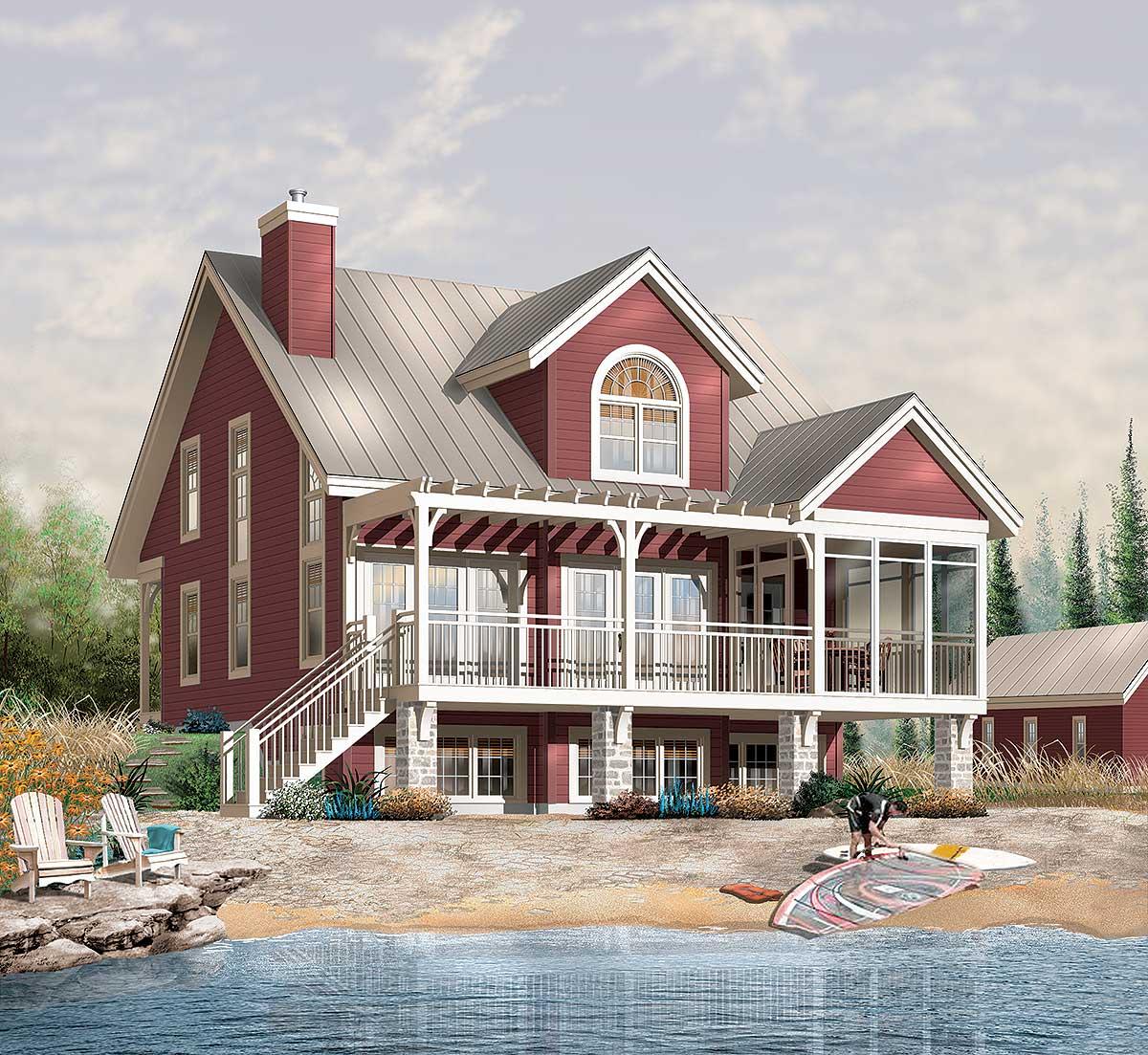 Year Round Retreat 21552dr Architectural Designs