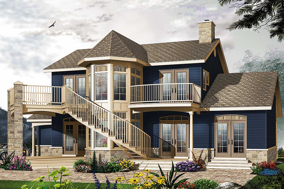 Two story atrium 21556dr architectural designs house for Atrium home plans