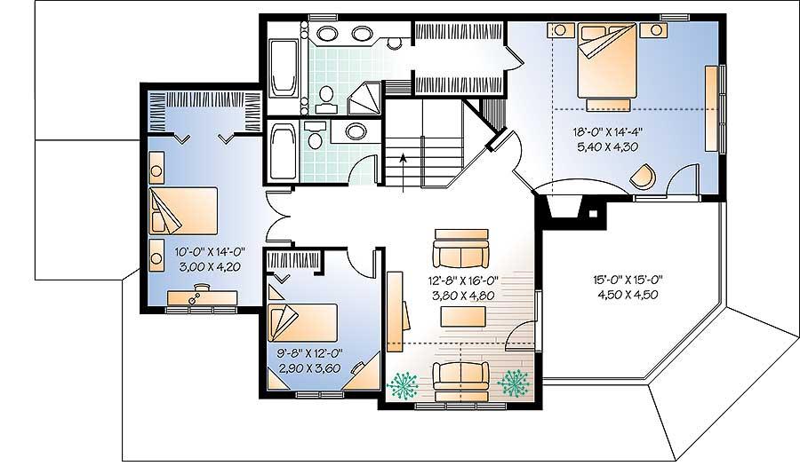 Wonderful Wrap-Around Porch - 21558DR floor plan - 2nd Floor