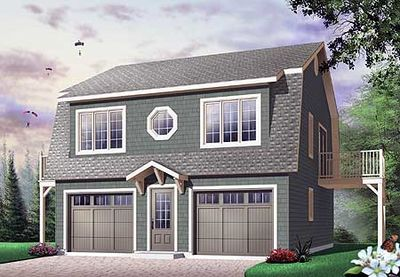 Flexible Carriage House Plan - 21564DR thumb - 01