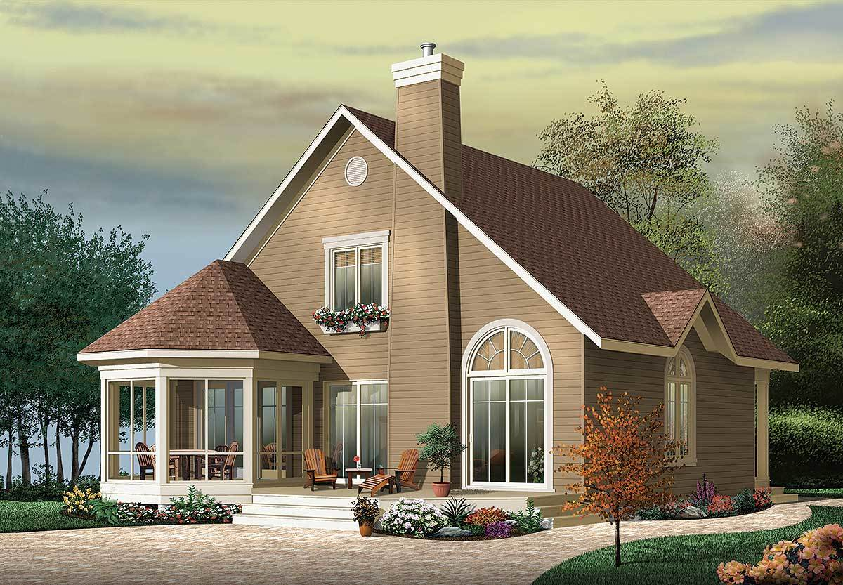 Year round vacation cottage 21566dr architectural for Vacation home plans