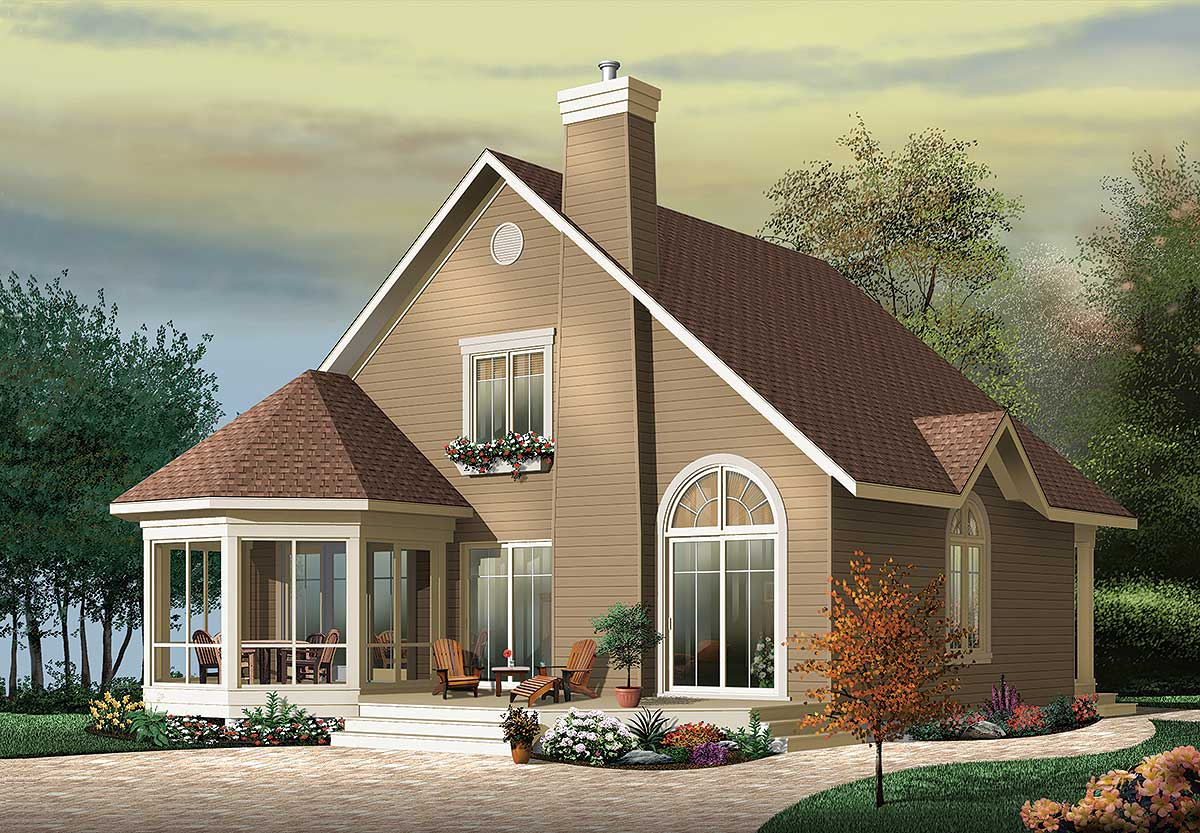vacation cottage plans year round vacation cottage 21566dr 1st floor master suite 2nd floor master suite cad 9834