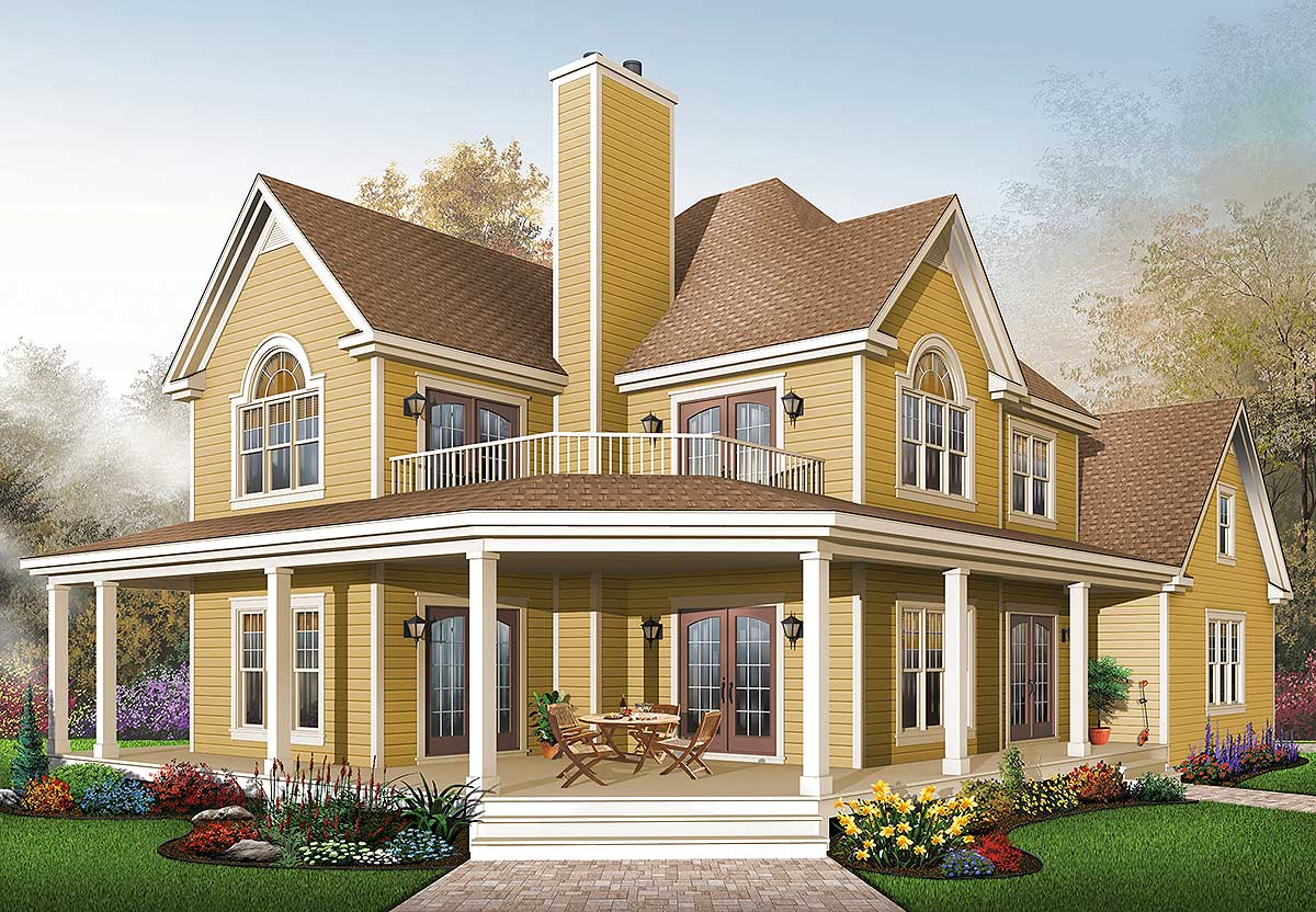Comfortable Country Home Plan 21575dr 2nd Floor Master