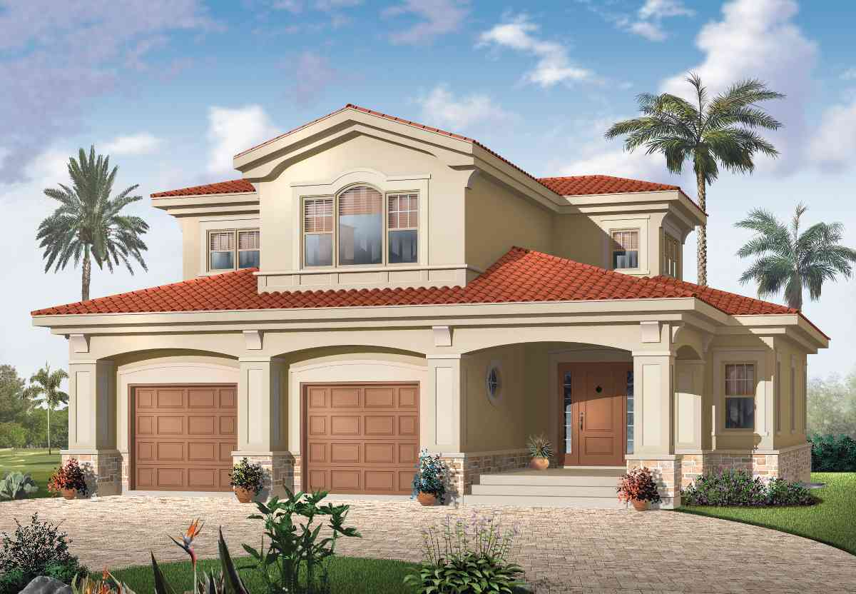 Mediterranean magic 21583dr architectural designs for Mediterranean modular homes