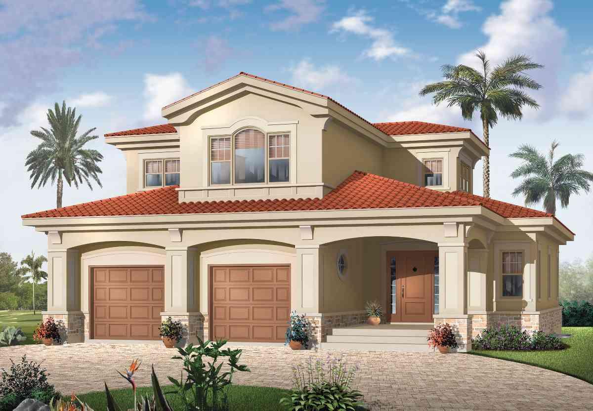 Mediterranean magic 21583dr architectural designs for Mediterranean house numbers
