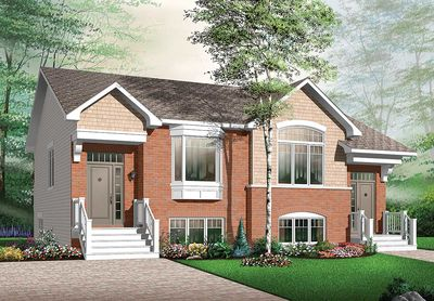 attractive two family house plan - 21601dr | architectural designs