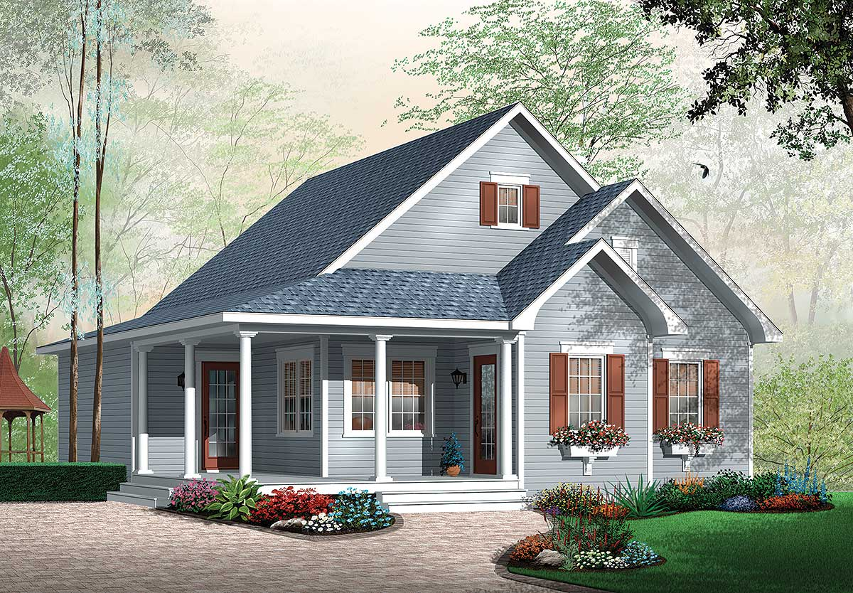 Delightful country home plan 21604dr cad available for Canadian country house plans