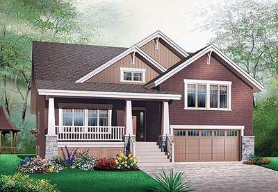 Craftsman Style Bungalow House Plans - 21617DR | Architectural ...