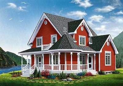 Country Plan with Victorian Detailing - 21623DR thumb - 01
