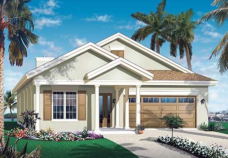 Narrow Lot Florida House Plan   DR   st Floor Master Suite    Reset Password