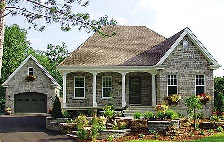 Architectural designs for House plans with detached garage