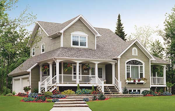 Morgan house ranch story farm plans southern wrap around for Free house plans with wrap around porch